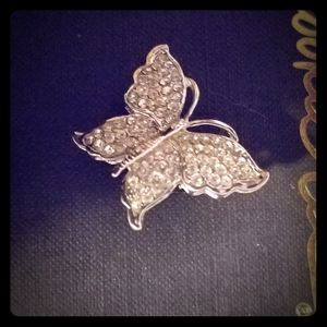 NEW Genuine Crystal Butterfly Brooch.
